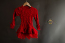 $20 Red Cableknit Sweater Dress with Tulle Bottom Size 6
