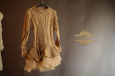 $20 Gold Cableknit Sweater Dress with Tulle Bottom Size 4