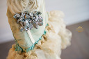 $45 Snazziedrawers Custom Teal & Ivory Sizes 4 & 8