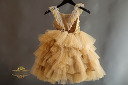 $65 Anna Triant Gold Couture Gown Size 6