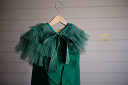 Janie & Jack Green Brushed Satin Size 4 Pictured with Shrug