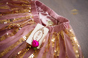 $20 Mia Joy Pink and Gold Sequined Skirt Size 3